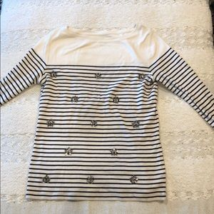 Talbots 3/4 sleeve top size S